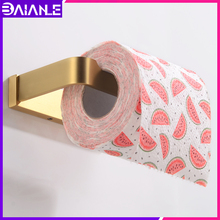 Toilet Paper Holder Gold Brass Decorative Towel Rack Wall Mounted Creative Bathroom Tissue Roll