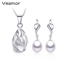 Highly Recommend 4 Color 925 Silver Freshwater Natural Pearl Jewelry Set With High Quality 8 9mm