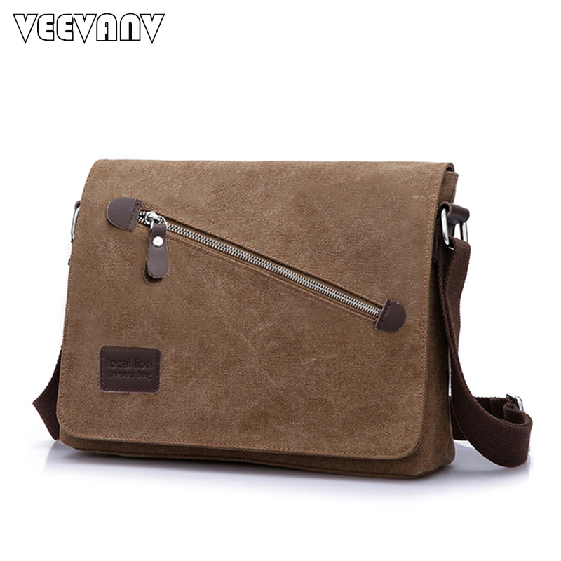 Fashion 2018 Men's Messenger Bags Canvas School Shoulder Bags Travel Teenager Boys Casual Men Business Briefcase Crossbody Bags casual canvas women men satchel shoulder bags high quality crossbody messenger bags men military travel bag business leisure bag