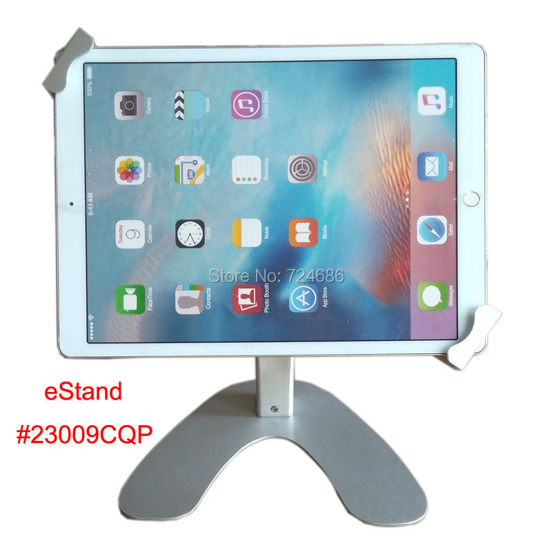 universal 10 to 13 inch tablet desktop secure lock stand for iPad pro display on trade show table for Surface pro table holde image