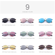 DESIGN Men/Women Classic Retro Oval Sunglasses 100% UV Protection