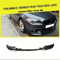 For BMW 5 Series 525i 528i F10 M tech M Sport Front Bumper Lip Spoiler 2011 2016 Car Styling Carbon Fiber