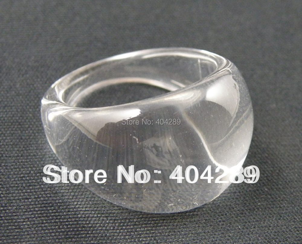 3 Size--10pcs Top Square Clear Chunky Lucite//Resin Ring US 6 1//2 , 7 3//4 , 9