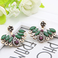 New Turkish Crystal Earrings Antique Gold Plated 2PCS Adjustable Length Wings Earrings Women Ethnic Jewelry Turkey Retro Bijoux