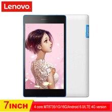Lenovo tab3 730 M LTE 4G 7 pulgadas 1G ROM 16G RAM MT8735 1024×600 3450 Mah tarjetas duales 2.0MP 5.0MP tablet PC teléfono