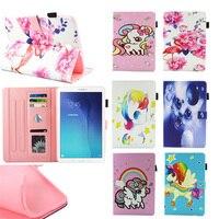 Unicorn flamingo PU Leather Lật Trường Hợp Đối Với Samsung Tab Một A6 10.1 2016 T580 T585 SM-T580 Thông Minh Trường Hợp Che Tablet Sleep/Wake up