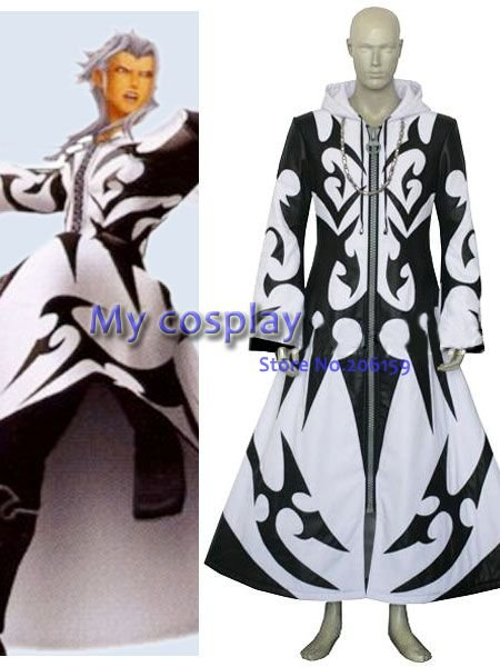 Anime royaume coeurs Xemnas cosplay costume pour Halloween Cosplay parties roly-play hommes Cool manteau tatouages veste pour hommes