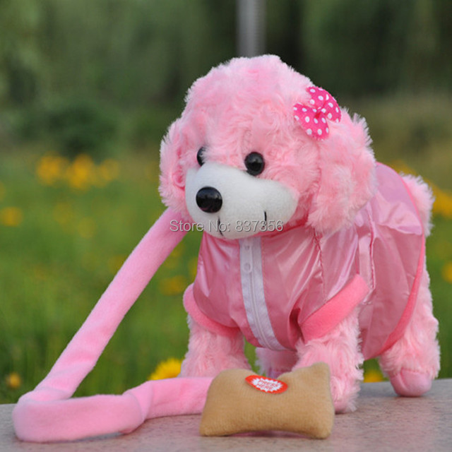 New Electronic Toys Dog Lovely Singing Walking Plush Dog Electronic Pets Children's Toys Birthday Gifts 7 Colors