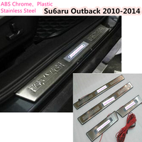 For Su6aru Outback 2010 2011 2012 2013 2014 Stainless Steel Car Door Cover Frame Lamp Panel