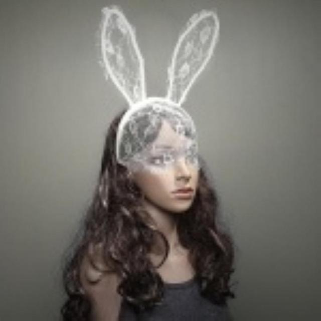 Party Rabbit Ears Half Face Mask