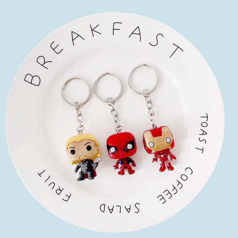 Marvel Avengers Capitão América Escudo do Metal Chaveiro Brinquedos Hulk Batman homem Aranha homem De Ferro Máscara Keychain Chaveiro Chave Dom Brinquedos