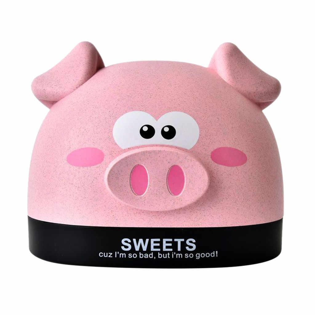 Пшеницы чехлы на коробки для салфеток мультфильм форма свиньи Бумага салфетка Организатор Дело держатели коробка/OPP сумка # Mar04