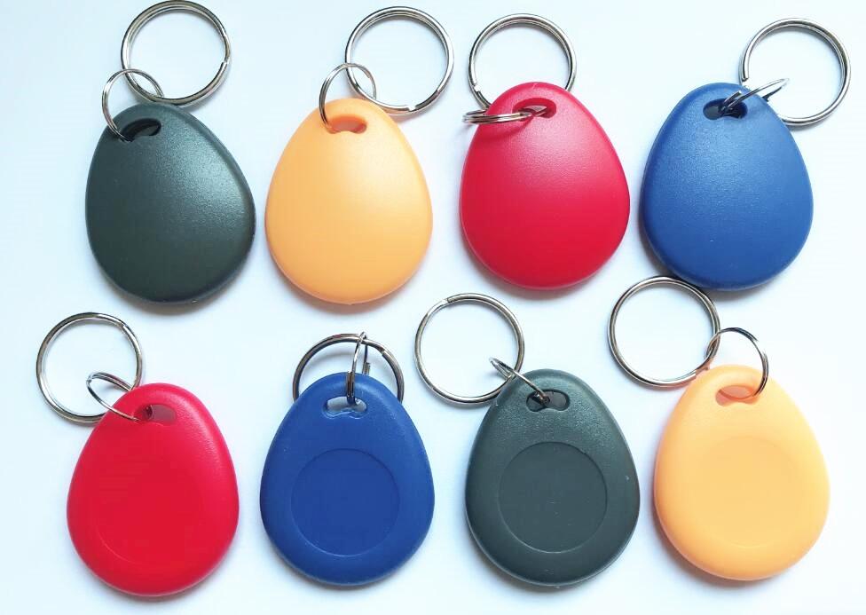 100 pcs lot 125Khz RFID T5577 EM4305 Writable Token Proximity Keyfob Tags Keychain Rewritable Access