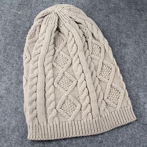 992e7fd9f0a63 Bluelans 2016 Venda Quente Senhora das Mulheres do Chapéu de Crochê de  Malha de Inverno Quente Beret Trançado Baggy Beanie Cap