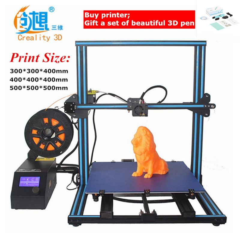 Filament Monitoring Alarm Max 3D Printers Creality Upgrade CR-10s Dual-Leading-Screws Rod DIY 3D Printer Kit Filament Heated Bed flsun 3d printer big pulley kossel 3d printer with one roll filament sd card fast shipping
