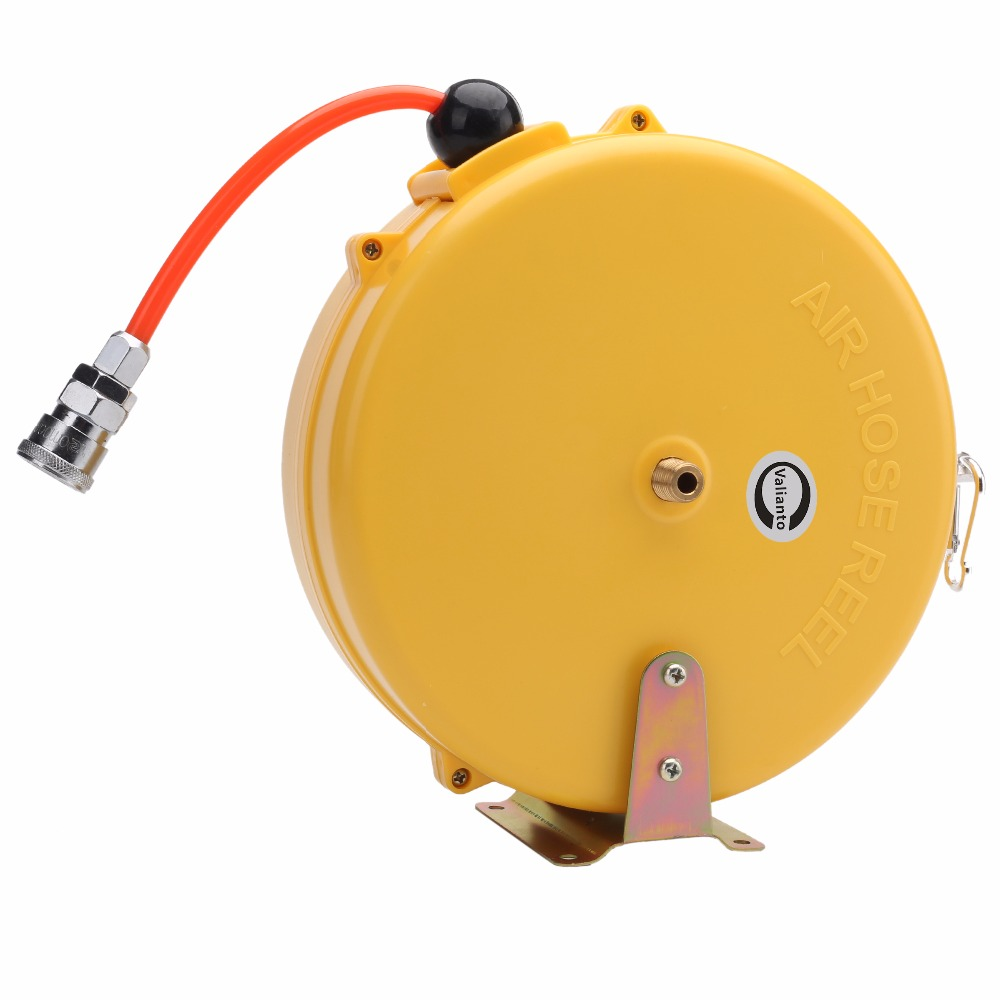 ФОТО Cheap High Quality HR-508 Mini 8X5MM 8M Automotive Air Hose Reel Automatic Retractable Reel Air Blower Industrial Blower