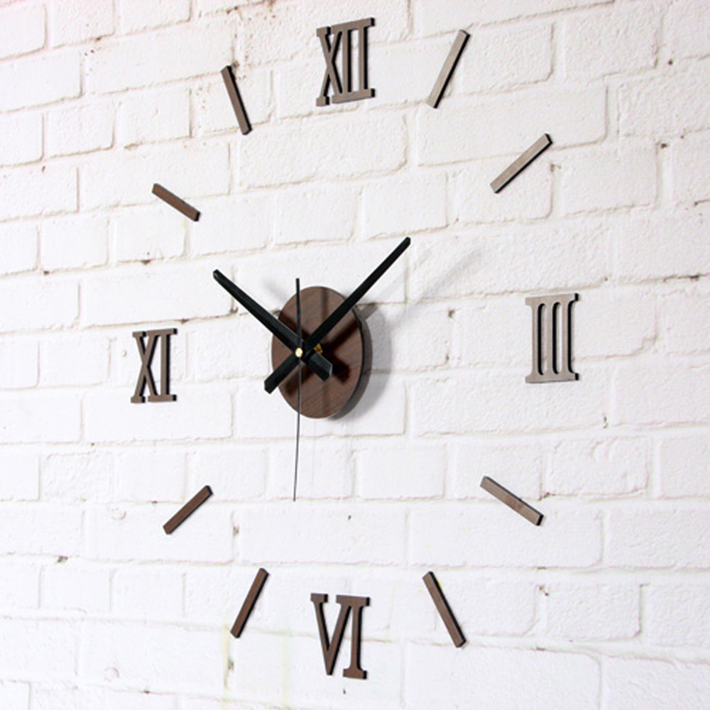 Aliexpresscom Buy DIY Fun Creative Wall Clock Fashion Roman