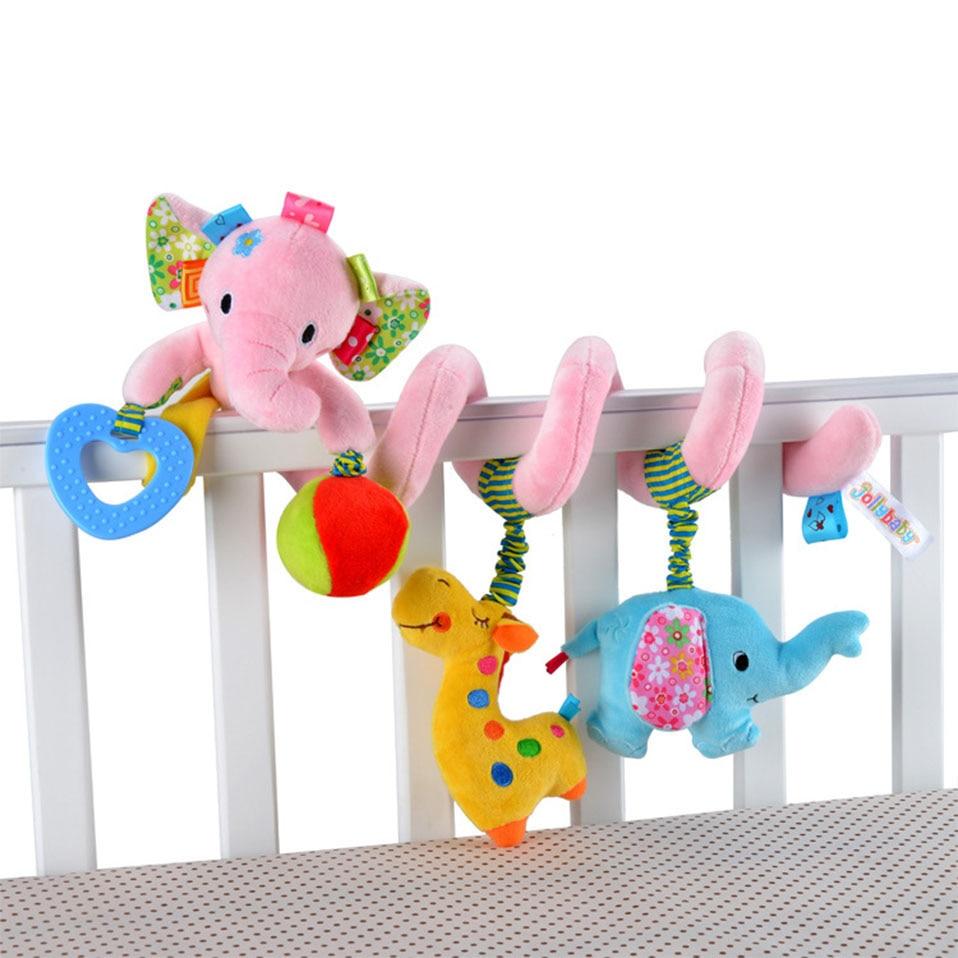 Lembut Bayi Crib Bed Stroller Mainan Spiral Bayi Mainan Untuk Bayi - Mainan balita - Foto 4