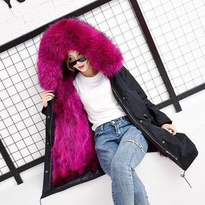 Image 5 - women real racoon dog fur coat