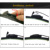 """Escovas para Ssangyong Korando (a partir de 2011) 24 """"+ 16"""" fit padrão J gancho limpador braços só HY-002"""