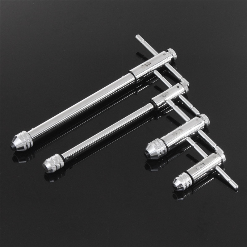 Handle Ratchet Tap M3-M8 M5-M12 Lengthen Reversible T Taps Wrenches Wire Tapping Wrench Adjustable Holder Tools