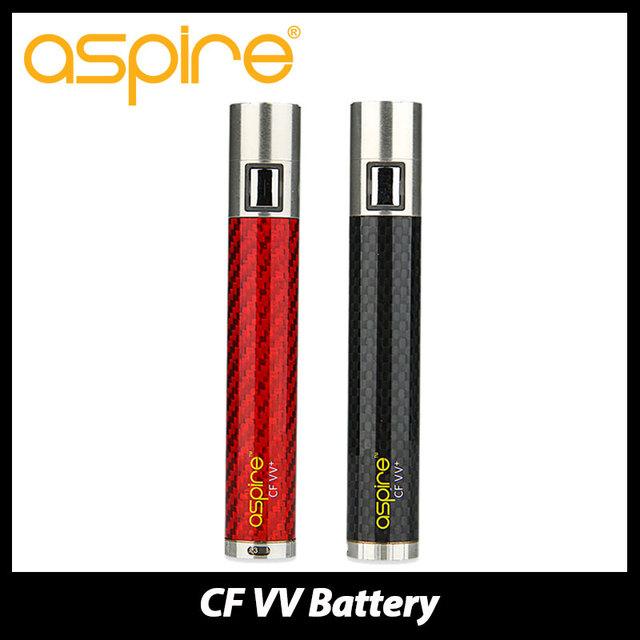 Original aspire cf vv + batería 1000 mah batería vape e-cigs batería de fibra de carbono cf tubo recubierto de liquidación precio!