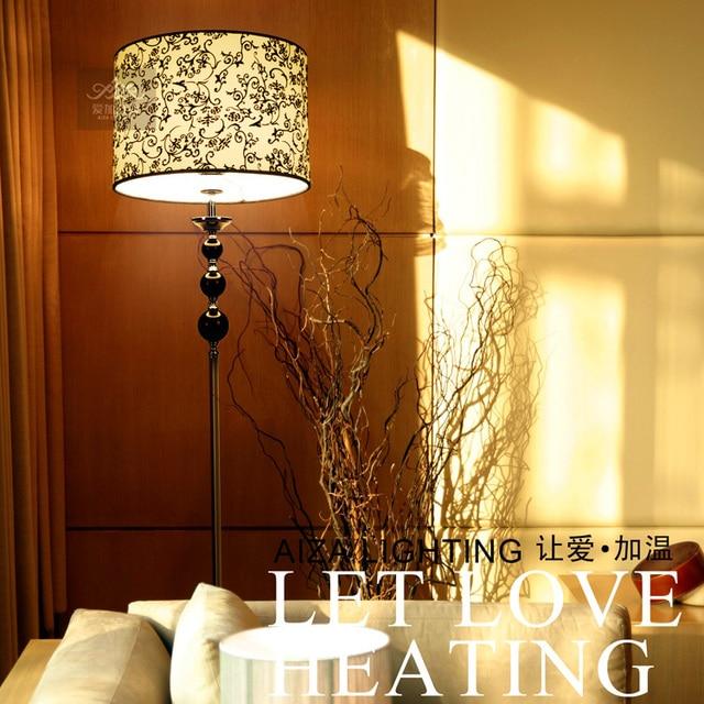 stijlvolle minimalistische moderne europese ikea woonkamer slaapkamer studie lamp zwarte kristal vloerlamp