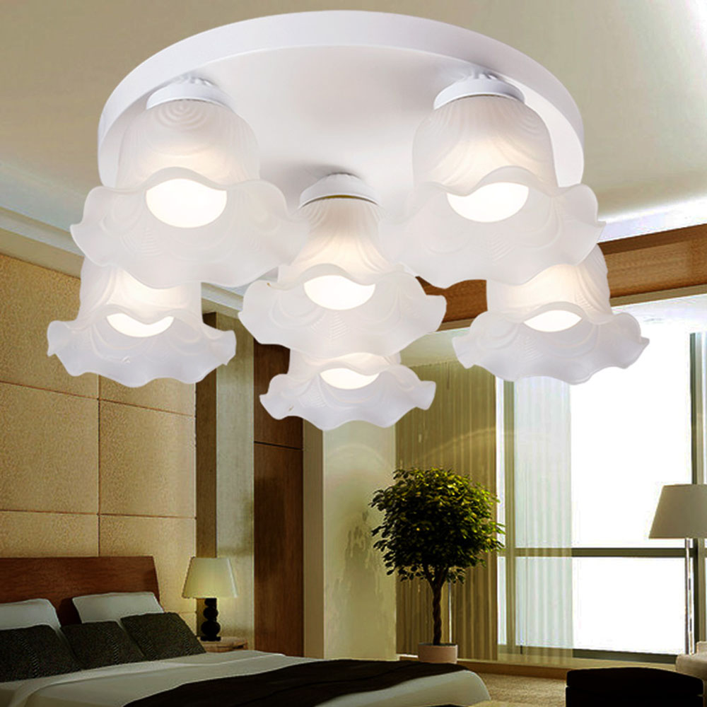 Ceiling Lighting Flower Light Fixtures E27 Modern Led Ceiling Lights for Living Room 110-220v Flush Mount Ceiling Light jvmac 2408a 16 in 1 toolset screwdriver repair tools kit set