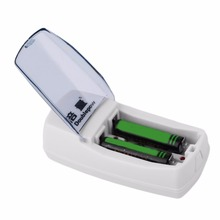 Doublepow Universal 2 Slots AA AAA 9V Battery Charger Charging Protective Portable Size Charger For Rechargeable Batteries
