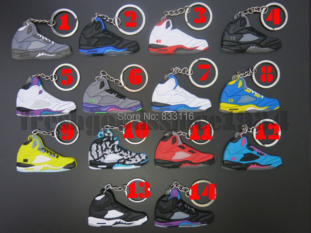 2015 Popular Sneaker Shoes Keychain Keyrings AJ5 23 Air Jordan