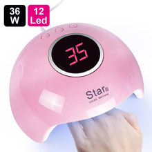 UV Lamp For Manicure LED Nail Dryer Lamp Sun Light Curing All Gel Polish Drying UV Gel USB Smart Timing Nail Art Tools LASTAR6(China)