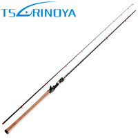 TSURINOYA 2.28m Baitcasting Fishing Rod FUJI Reel Seat and FUJI Guide Ring 2 Sections Lure Rod Lure Weight 6 18g Vara de Pesca
