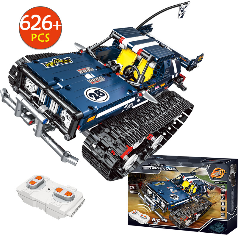 621PCS Toys For Boys Remote Control Suspension Tracked Racer Car Building Blocks Compatible City Technic RC