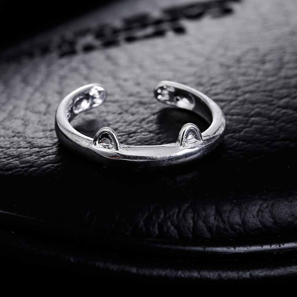 Cute Designer Cat Ring For Women