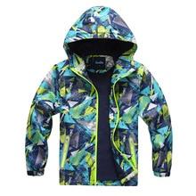 Kids Boys Jackets Waterproof Coats Outerwear Spring-Tops Windbreaker Polar-Fleece New