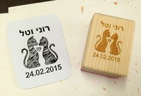 1 Pcs Any Size Customized Custom Rubber Cartoon Wooden Stamp Birthday Name Word Scrapbooking Card Wedding