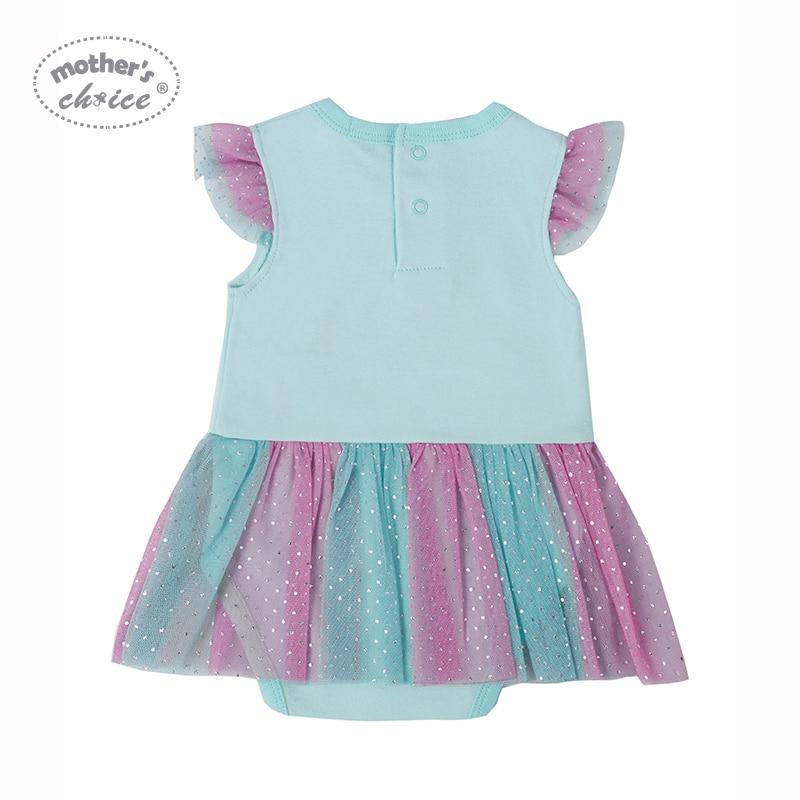 Body dla matki Baby z falbankami Cotton Girl Dress Odzież letnia - Odzież dla niemowląt - Zdjęcie 4