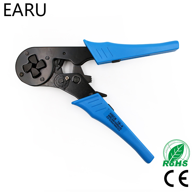 FASEN Crimper Plier HSC8 16-4 Adjustable Crimping Tools For 6.0-16.0mm2 (AWG10-5) Cable End-sleeves Wire VE Terminal Connectors