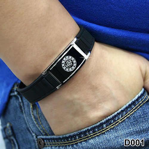 Noproblem FDA chống mệt mỏi theapy sức khỏe Ion cân bằng điện ảnh ba chiều từ choker dây đeo cổ tay tourmaline germanium vòng đeo tay