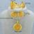 2016 nueva etiopía 24 k plateada oro de la joyería de cadena pendiente / pendiente / anillo / brazalete de novia de Eritrea boda áfrica Habesha etiopía