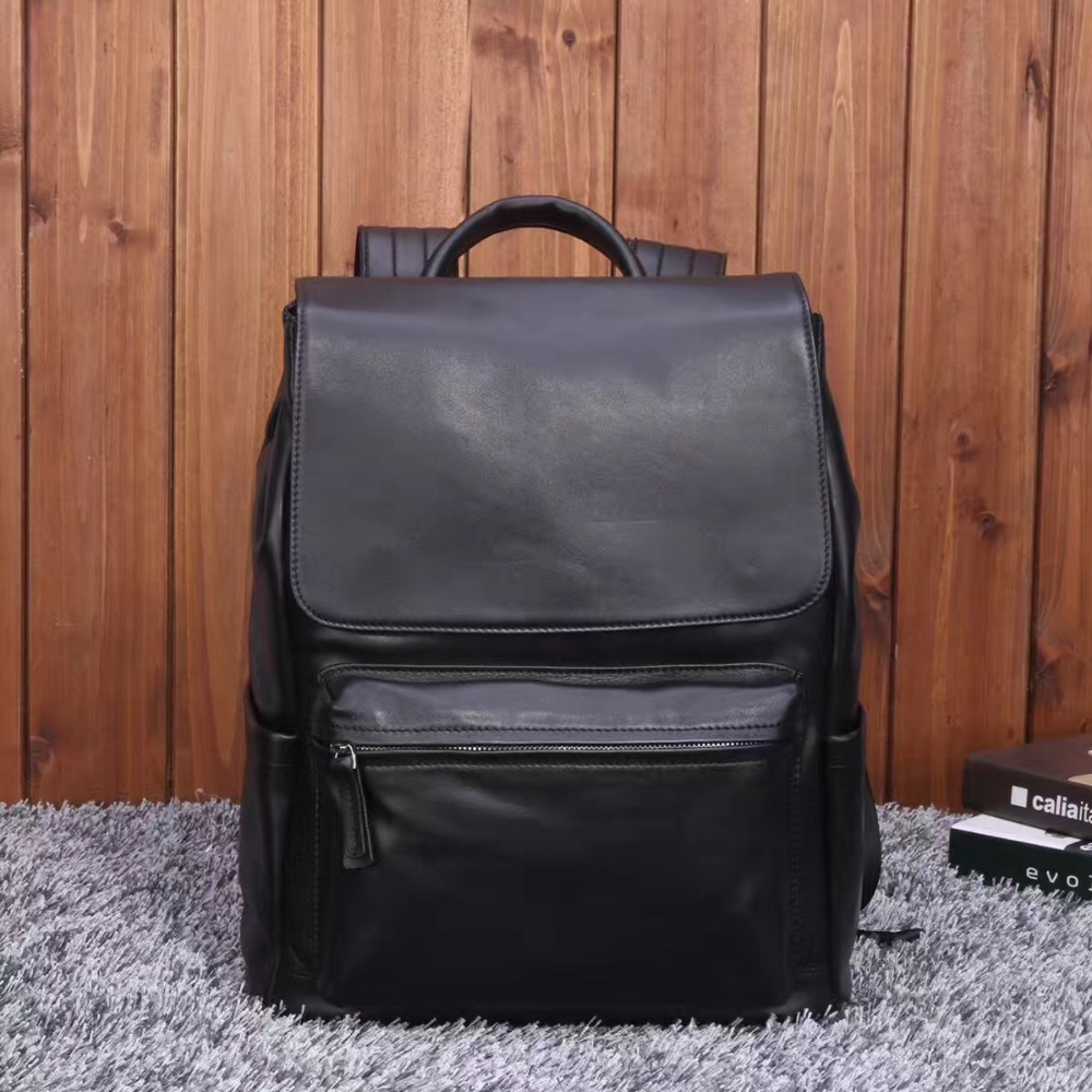 2017 Genuine Leather Men Backpack Large Capacity Man Travel Vintage School Bags Designer Business Laptop Backpack for Teenagers olidik laptop backpack for men 14 15 6 inch notebook school bags for teenagers large capacity 30l women business travel backpack