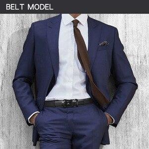 Image 4 - MINGLILONG Bestsale الفاخرة العلامة التجارية الذكور أحزمة أحزمة جلد طبيعي للرجال عالية الجودة Pasek الأسود التلقائي مشبك الأحزمة