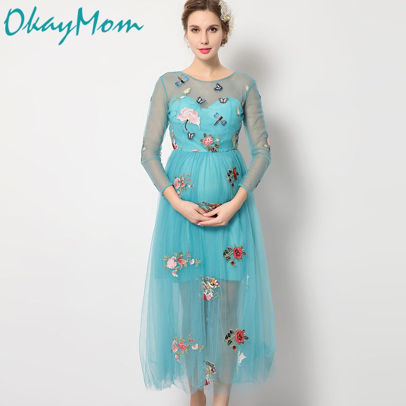 Maternity Photography Props Pregnancy Wear Elegant Floral Party Evening Dresses Clothes Maternity Clothing For Photo Shoots 2017