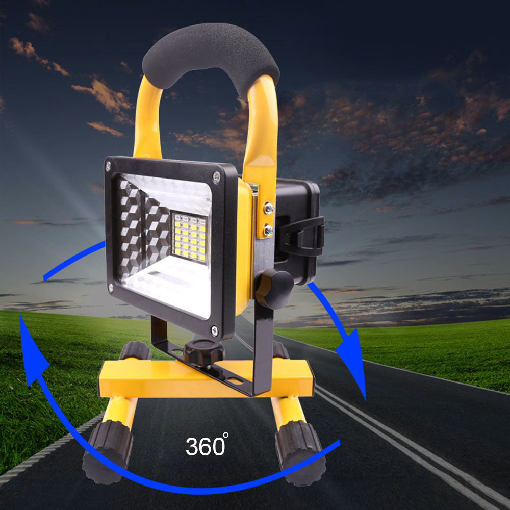 1000LM 30W Portable LED Flood Light 18650 SMD Night Lighting Emergency Lamp USB Rechargeable For Outdoor Camping EU/US Plug