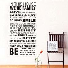 Grosse Grsse Artikel Text Wohnzimmer Kinder Wandaufkleber Autocollant Wand House Rule Wandtattoos Vinylaufkleber DekorChina