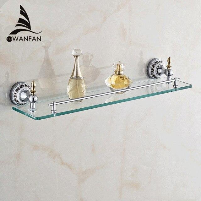 Aliexpress.com : Buy Bathroom Shelves Golden Finish Metal Material ...