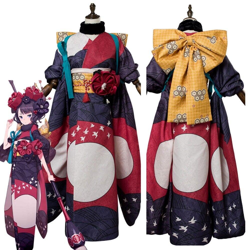 Fate Grand Order FGO Katsushika Hokusai Stage 1 Cosplay Costume Full Set New