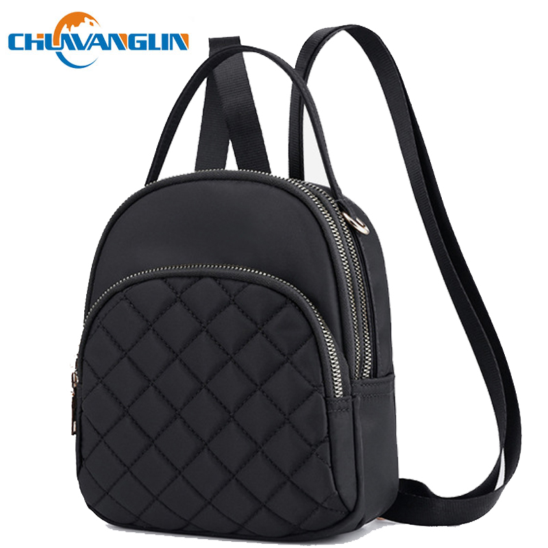 Chuwanglin Nylon Mini Backpack Casual Cute Backpack Women Multifunction Waterproof  Small Backpacks School Bags Mochila F5017