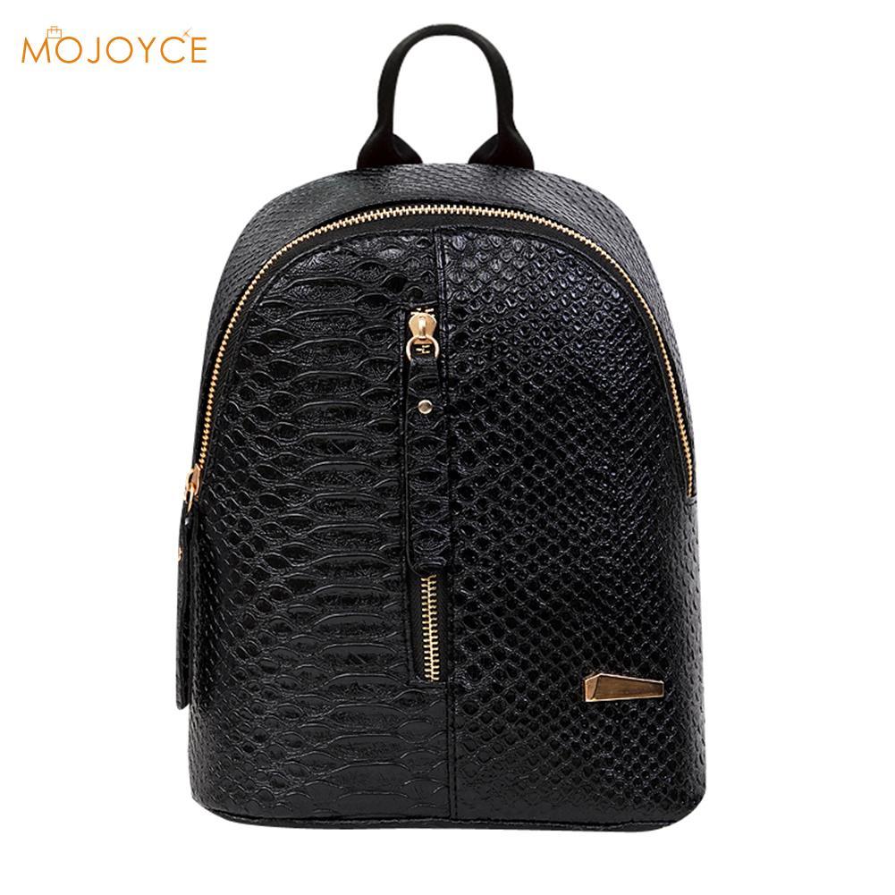 f280e33ca504 Details about Women Leather Backpack School bags Rucksacks Travel Backpack  female Shoulder Bag