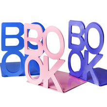 Coloffice 2PCS/Lot Colorful BOOK Large Business Bookends Desk Organizer Desktop Office Home Book Holder Bookends For Students